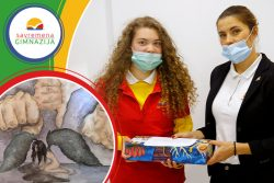 """Savremena's student Nađa Pevac won a prize in the art competition """"On the Wings of Emotion"""""""